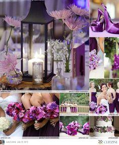 Purple scheme wedding theme #PurpleDesign