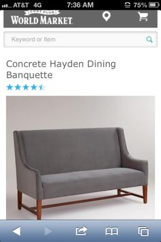 Comfy U0026 Stylish So Company Can Stay A While... Concrete Hayden Dining  Chair: World Market | Dining | Pinterest | Concrete, Dining Chairs And  Decorating