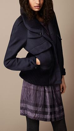 Burberry Brit Wool Blend Oversize Jacket