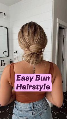 Easy Bun Hairstyles, Work Hairstyles, Pretty Hairstyles, Hair Upstyles, Good Hair Day, Aesthetic Hair, Hair Videos, Gorgeous Hair, Hair Looks