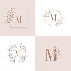 Logotipo da letra b com elemento de folh. Vintage Lettering, Lettering Design, Branding Design, Logo Floral, Flower Logo, Ideas Para Logos, Orchid Leaves, Orchid Flowers, Beauty Logo