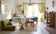 白木の家具がさわやかなワンルーム : 真似したくなる!一人暮らしインテリア 1K・ワンルームレイアウト【女子部屋】 - NAVER まとめ