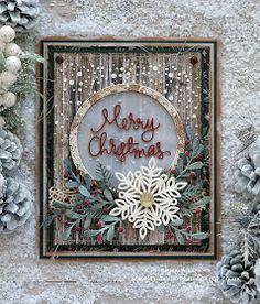 Stampin Up Christmas, Christmas Cards To Make, Christmas Snowflakes, Xmas Cards, Handmade Christmas, Holiday Cards, Christmas Crafts, Christmas Ribbon, Christmas 2019