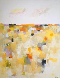 Large Yellow Abstract Landscape Sunshine Mosaic Landscape