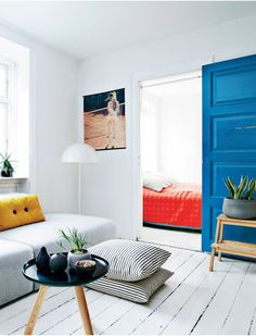 Benita Marcussen & Niels Frøhlkes lille 69 m² lejlighed i Nansensgade-kvarteret i København.