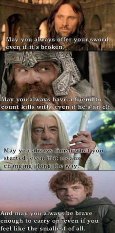 A middle earth blessing...