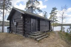 Myllyjärven mökki - Natura Viva Finland, Places To Go, Shed, Outdoor Structures, Cabin, House Styles, Home, Live, Cabins