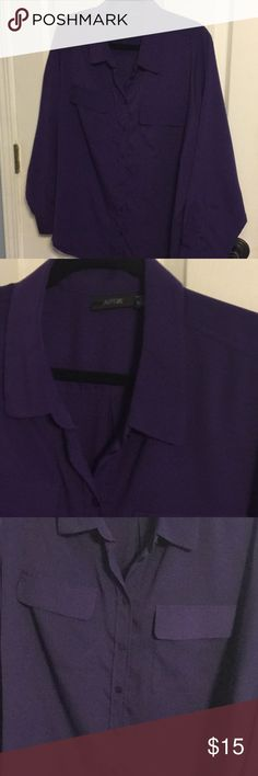 Purple blouse Purple long sleeved  blouse, never worn Apt. 9 Tops