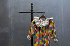 Harlequin is associated with the Italian theater. Durning the 16th Century, Commedia dell' Arte spread from Italy throught Europe. By the 17th Century, English theater made harlequin the central figure and romantic lead. 1940s Big Top Harlequin clown suit.