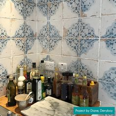 Made from ceramic, these Vecchio Diamante Indigo Tiles have a vintage pattern with an antiqued design. They're perfect for a feature wall or statement floor. Wall And Floor Tiles, Wall Tiles, Indigo Walls, Personal Taste, Floor Space, Wabi Sabi, Illusions, Color Pop, Floors