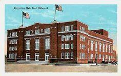 Enid Oklahoma OK 1920s Convention Hall Collectible Antique Vintage Postcard
