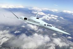 Is the future supersonic? Hopes for super speedy journeys by air have been rekindled as a number of companies, including Boeing (pictured) have unveiled concepts for supersonic jets of the future, and Nasa has begun tests to work out a way of creating an aircraft that is not as noisy as Concorde was