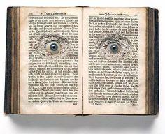 Spooktacular recycled book art