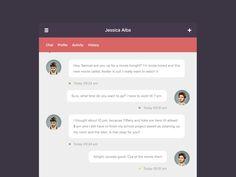 Chat/Messenger Widget by Marcus Hofer