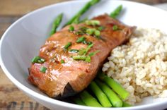 Ginger Soy Poached Salmon - very yummy could use more hot sauce