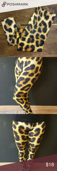 Leggings Leopard Print One Size Buttery & Soft! One size, fits sizes 0-12* Realistic, leopard print looks amazing with its larger spots, while neutral colors allow for so many outfit opportunites! Super stretchy with a soft, buttery feel. [Yes, these are comparable to LuLaroe leggings!] Brand new, CLE Threads original item!  *I cannot guarantee sizes that these leggings fit. They are SUPER stretchy and forgiving [LuLaroe-like], and certainly will fit a wide range. CLE Threads Pants Leggings
