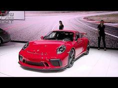 NEWCARNET - Porsche has reveals its new 911 in Geneva. The German brand says the road car's 500 horse power, engine is virtually identical to the. Lamborghini, Ferrari, Geneva Motor Show, Car Videos, Super Cars, Porsche, Vehicles, Top, Car