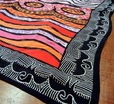 Jimmy Pike, fabulous Australian aboriginal artist designed this silk scarf by Desert Designs