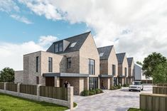 Works starts on GA Studio's Altrincham mews houses Social Housing Architecture, Modern Architecture Design, Brick Architecture, Residential Architecture, Modern Townhouse, Townhouse Designs, Habitat Groupé, Mews House, Suburban House