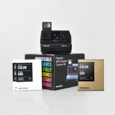 Polaroid 600 Impulse Gold Frame Bundle