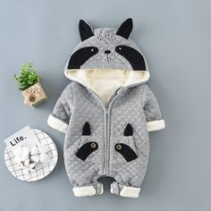 Your baby looks super sweet in this trendy jumpsuit featuring panda design and convenient snap closure for easy diapering. Cute Baby Boy Outfits, Trendy Baby Boy Clothes, Matching Family Outfits, Baby Outfits Newborn, Baby Boy Newborn, Baby Boys, Cute Raccoon, Baby Jumpsuit, Kids Prints