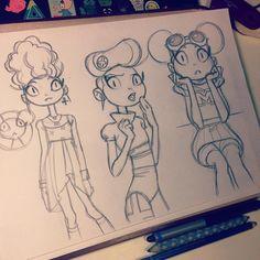 Risultati immagini per anna cattish Anna Cattish, Sketches Tutorial, Drawing Tutorials, Cartoon Art Styles, Illustration Sketches, Character Design References, Comic Artist, Character Concept, Concept Art