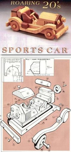 Wooden Sports Car Plans - Children's Wooden Toy Plans and Projects   WoodArchivist.com