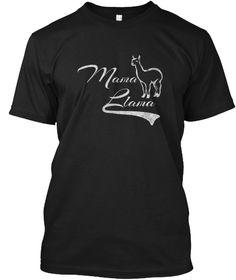 Mama Llama Shirt Black T-Shirt Front