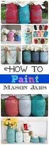 How to Paint Mason Jar Glass Bottles