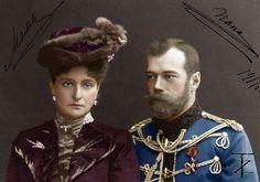 Tsar Nicholas ll of Russia with Empress Alexandra Feodorovna of Russua.A♥W