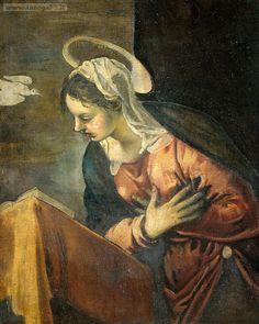 Tintoretto – Annunciazione (dett- Maria)