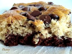Bunnys Warm Oven: Search results for chocolate bottom banana bars   If you love chocolate and banana together..your gonna love these bars!