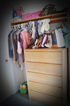 #dorm put drawers in closet