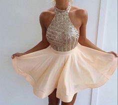Halter Cocktail Dresses,Short/Mini Prom Dresses, #simibridal