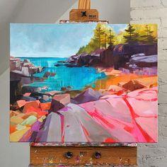 Pretty Art, Cute Art, Colorful Paintings, Landscape Art, Art Techniques, Diy Art, Art Inspo, Art Drawings, Art Projects