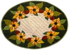 Image detail for -Sunflower Oval Table Runner Quilt Pattern by reezehanson on Etsy