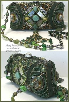 Mary Frances, via Gaby Blam Design Vintage Fur, Vintage Purses, Vintage Bags, Vintage Handbags, Beaded Clutch, Beaded Purses, Beaded Bags, Mary Frances Purses, Mary Frances Handbags