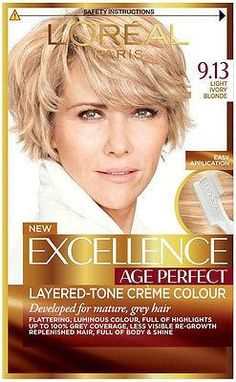 L Oréal Paris Excellence Age Perfect Creme Colour - 9.13 Light Ivory Blonde f516923c19fde