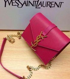 Latest YSL Bags 2014 Saint Laurent Monogramme Saint Laurent Candy Bag in Neon Pink Leather