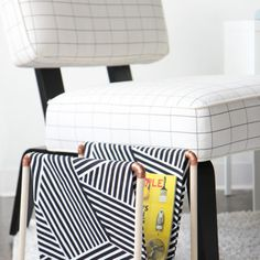 I predict a lot of fun fabrics in this stool's future. A simple straight stitch is all you need, then slip it on the dowels before you assemble the rest. Simple Embroidery, Vintage Embroidery, Embroidery Kits, Embroidery Stitches, Embroidery Designs, Scarf Tutorial, Embroidery Transfers, Straight Stitch