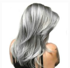 New Hair Color Grey Titanium 67 Ideas Hair Color And Cut, New Hair Colors, Cool Hair Color, Long Gray Hair, Silver Grey Hair, Best Lace Front Wigs, Front Lace, Coiffure Hair, Gray Hair Highlights