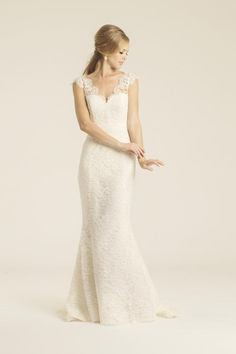 Avalon Fleur de Vie lace wedding gown, made in San Francisco, California by Amy Kuschel