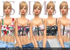 Sims 4 CC's - The Best: Floral Bustier by JS Sims 4