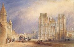 Wells Cathedral Wall Art & Canvas Prints by Thomas Hosmer Shepherd