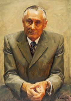 Alexander Maurice Ramsay, 1978 by Robert Hannaford Australian Painters, Australian Artists, University Of Adelaide, Visual And Performing Arts, Oil Portrait, National Portrait Gallery, Portraits, Figure Painting, Figurative Art