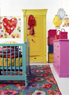 so good. I love this room and bright bold colors I wish these are colors I chose!