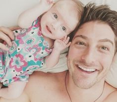 Daniel Lissing with his niece  When Calls The Heart