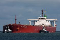 Atlantic Trader.  Going into Rotterdam with 230,000 tons of iron ore