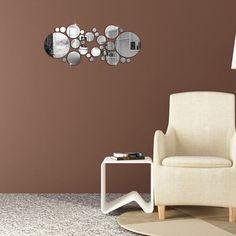 30Pcs Circle Mirror - Wall Stickers 3
