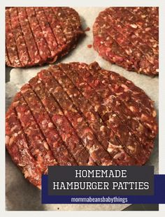 Homemade Hamburger Patties Homemade Hamburger Patties – Momma Beans and Baby Things Quick easy delicious homemade burgers. Simple dinner and supper idea. Homemade Burger Patties, Easy Homemade Burgers, Homemade Hamburgers, Grilled Hamburger Recipes, Healthy Burger Recipes, Grilled Food, Bbq Hamburgers, Beef Burgers, Simple Hamburger Patty Recipe